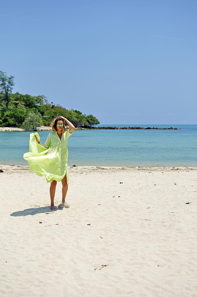 Chichouse | Choeng Mon Beach | Koh Samui | Akanksha Redhu | flying dress with hand far