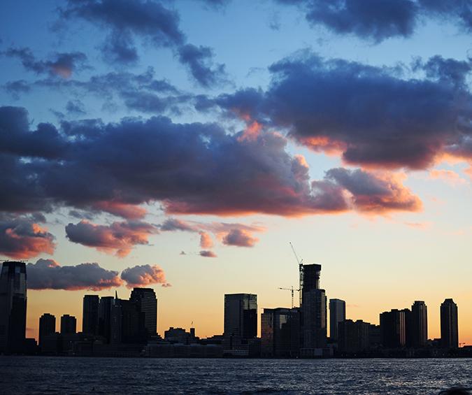 Hudson River Greenway | Akanksha Redhu | #RedhuxNYC | #eyesfornewyork | black buildings clouds