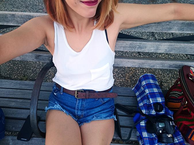 Hudson River Greenway | Akanksha Redhu | #RedhuxNYC | #eyesfornewyork | bench selfie
