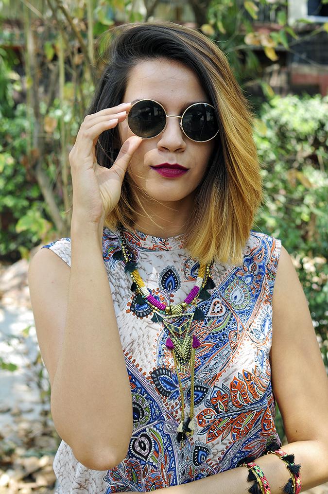 Only Studio | Akanksha Redhu | half frnt green back hand on sunglasses