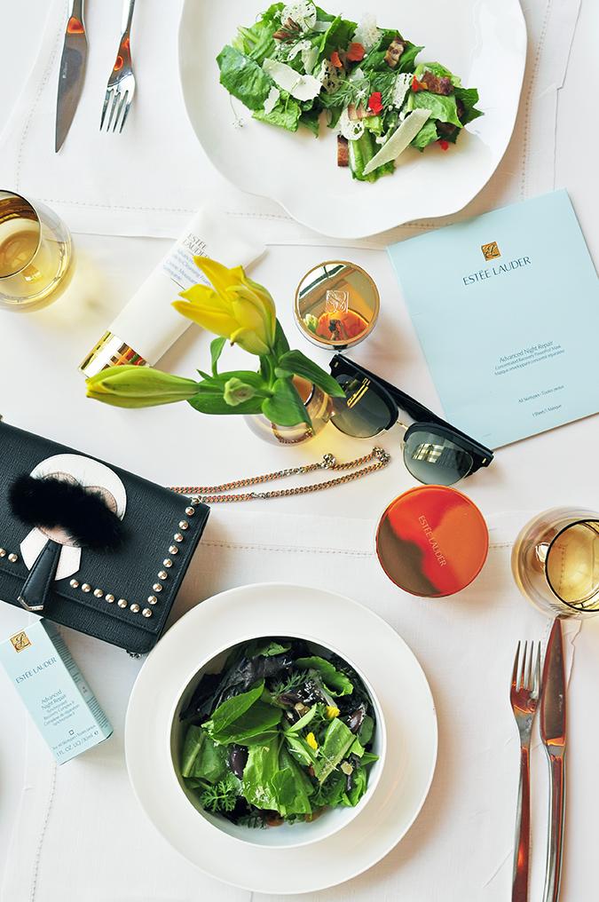 Estée Lauder | Akanksha Redhu | table flatlay from top