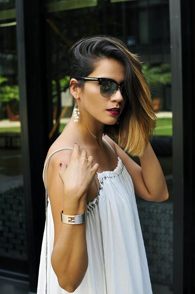 Estée Lauder | Akanksha Redhu | half side hair one side