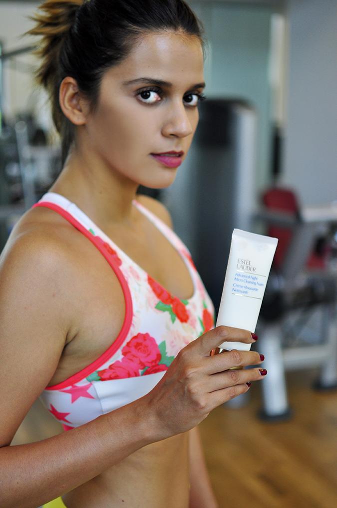 Estée Lauder | Akanksha Redhu | yoga holding foam