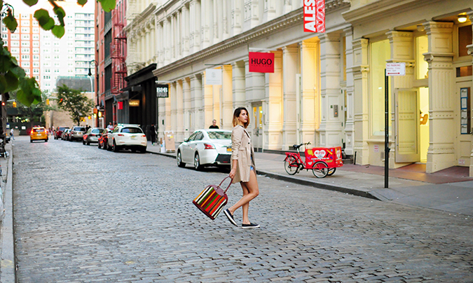 Soho | NYC | Akanksha Redhu | crossing street far wide