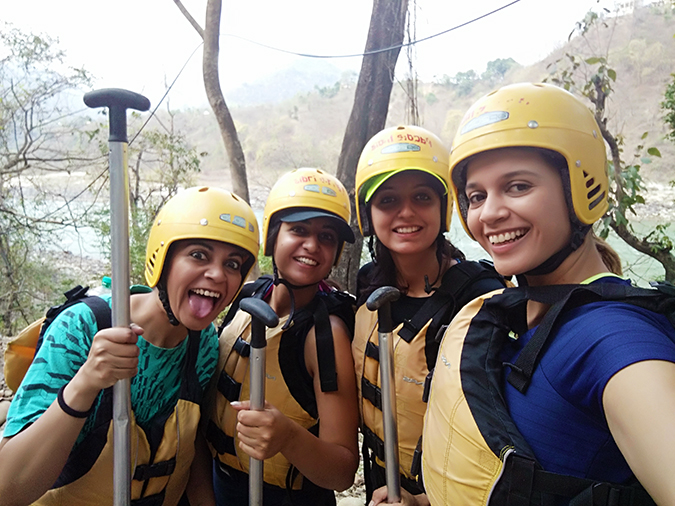 Rishikesh | Akanksha Redhu | rafting group selfie
