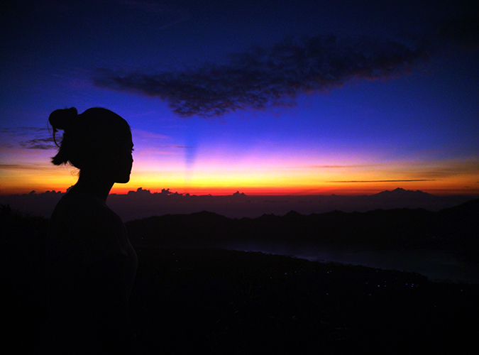 Mount Batur Sunrise Trek | Bali | Akanksha Redhu | first light wide with me outline