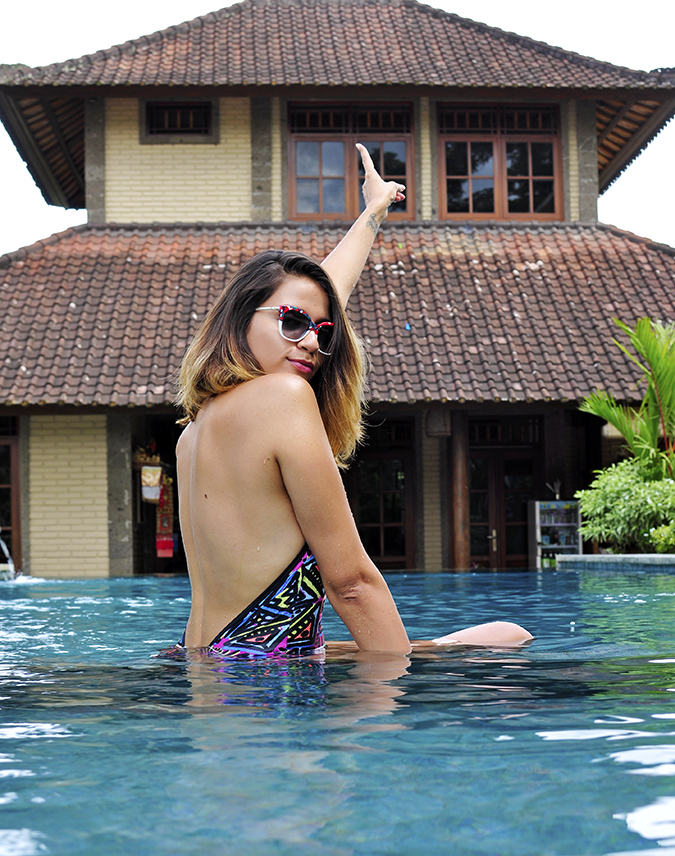 Ubud | Akanksha Redhu | sitting in pool back
