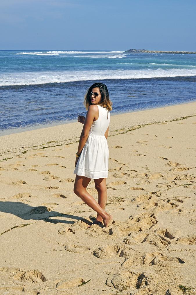 Nikkos Beach | Bali | Akanksha Redhu | full side back sand