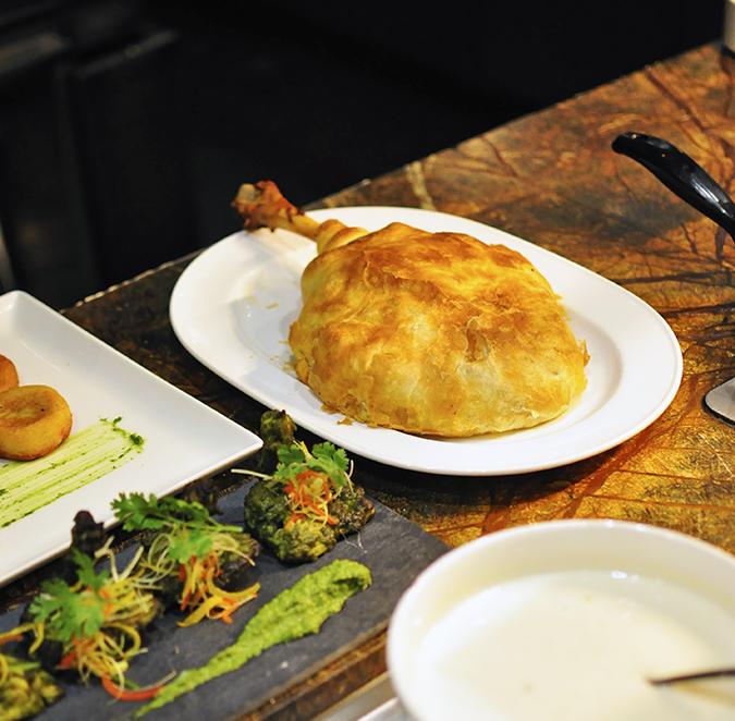 JW Marriott |Chef Vivek Bhatt | Akanksha Redhu | raan being plated
