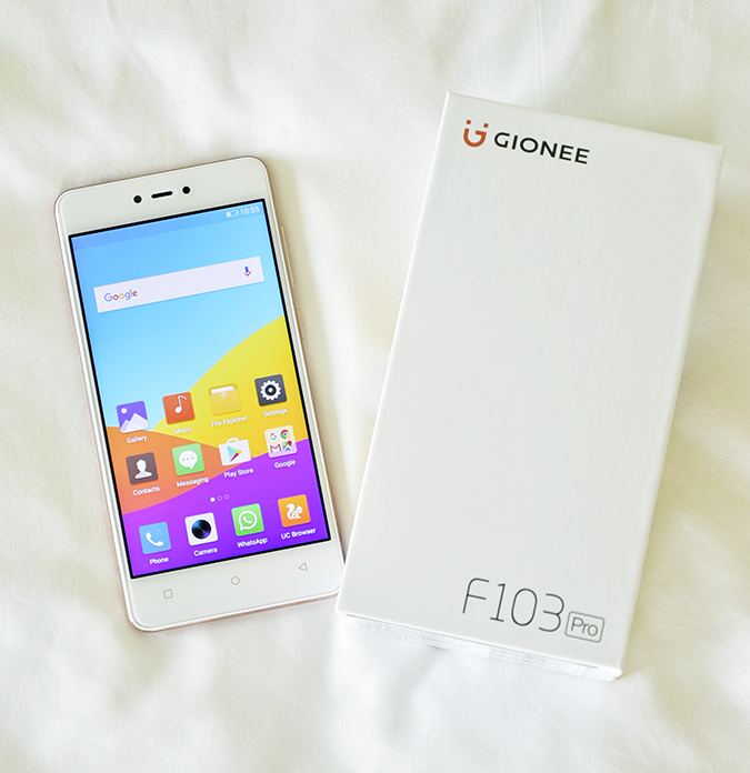 Gionee F103 Pro | Akanksha Redhu | home screen carton