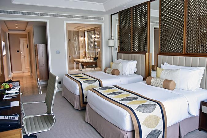 Taj Dubai | #EmiratesHolidays | Akanksha Redhu | beds loo