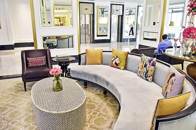 Taj Dubai | #EmiratesHolidays | Akanksha Redhu | lobby couch wide
