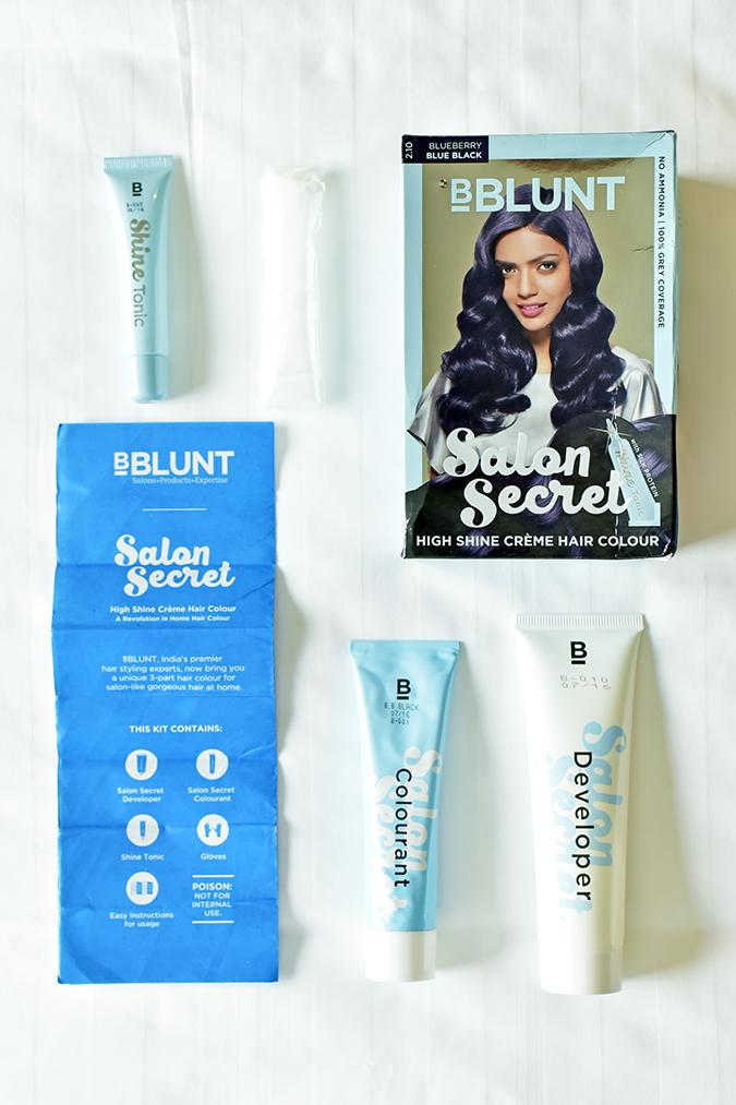 BBLUNT Salon Secret Hair Colour   Akanksha Redhu   proper flatlay