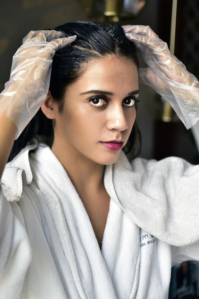 BBLUNT Salon Secret Hair Colour   Akanksha Redhu   completed application face