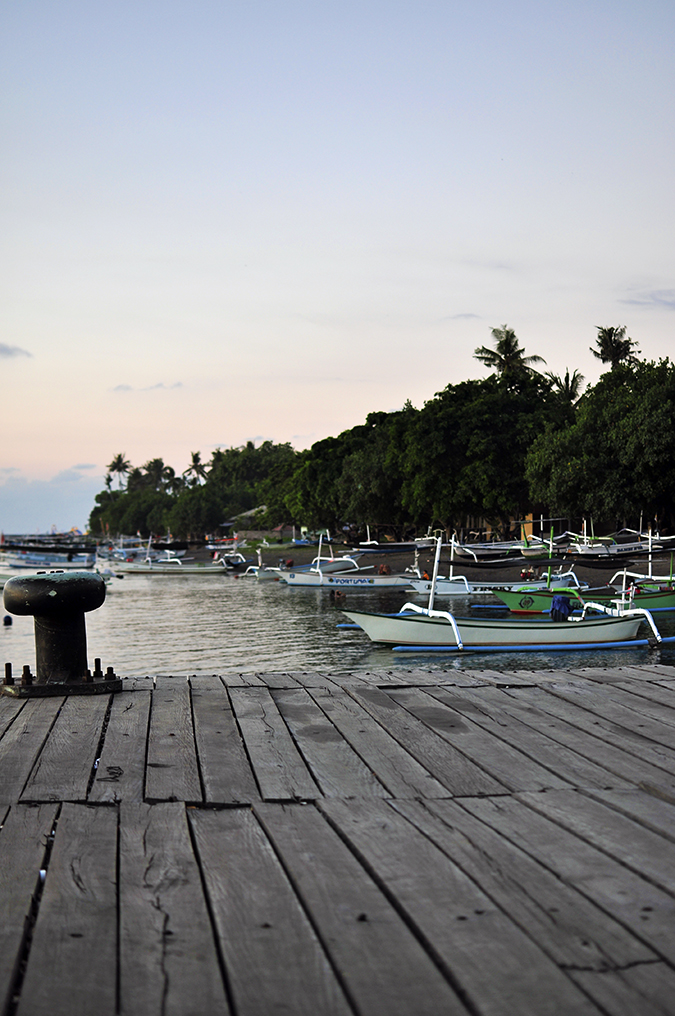Lovina Beach | Bali | Akanksha Redhu | pier and boats long