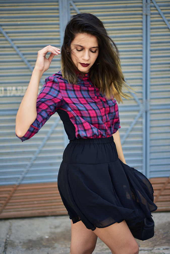 Sbuys | Akanksha Redhu | half side skirt fly
