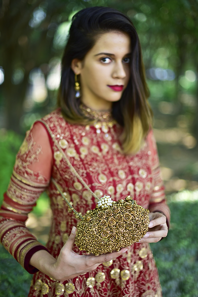Tarun Tahiliani | Akanksha Redhu | face bag in front less