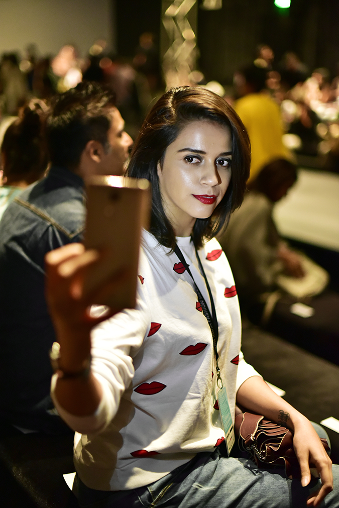 Coolpad India | Akanksha Redhu | seated inside show area