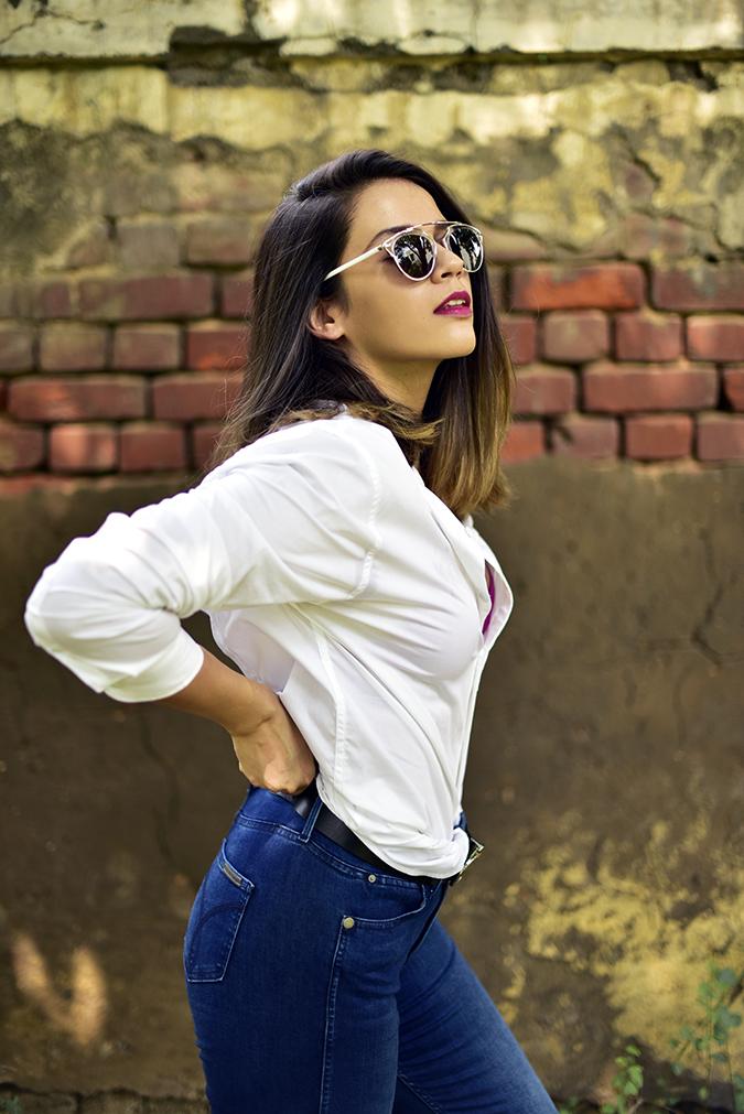 Calvin Klein | Akanksha Redhu | half  side arms on waist behind