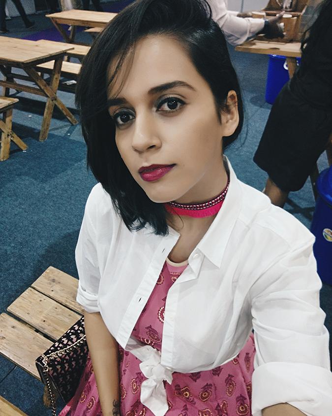 #AIFWSS17 | Akanksha Redhu | selfie