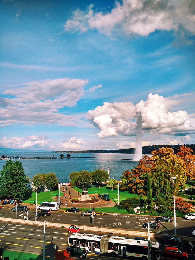 #GlionLuxury | Akanksha Redhu | view of geneva from patek salon 12