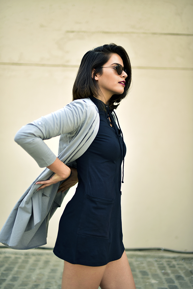 Sbuys | Akanksha Redhu | half side flying jacket