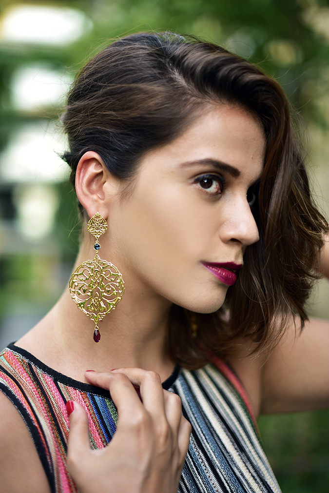 Swarovski Confluence | Akanksha Redhu | face hair on one side