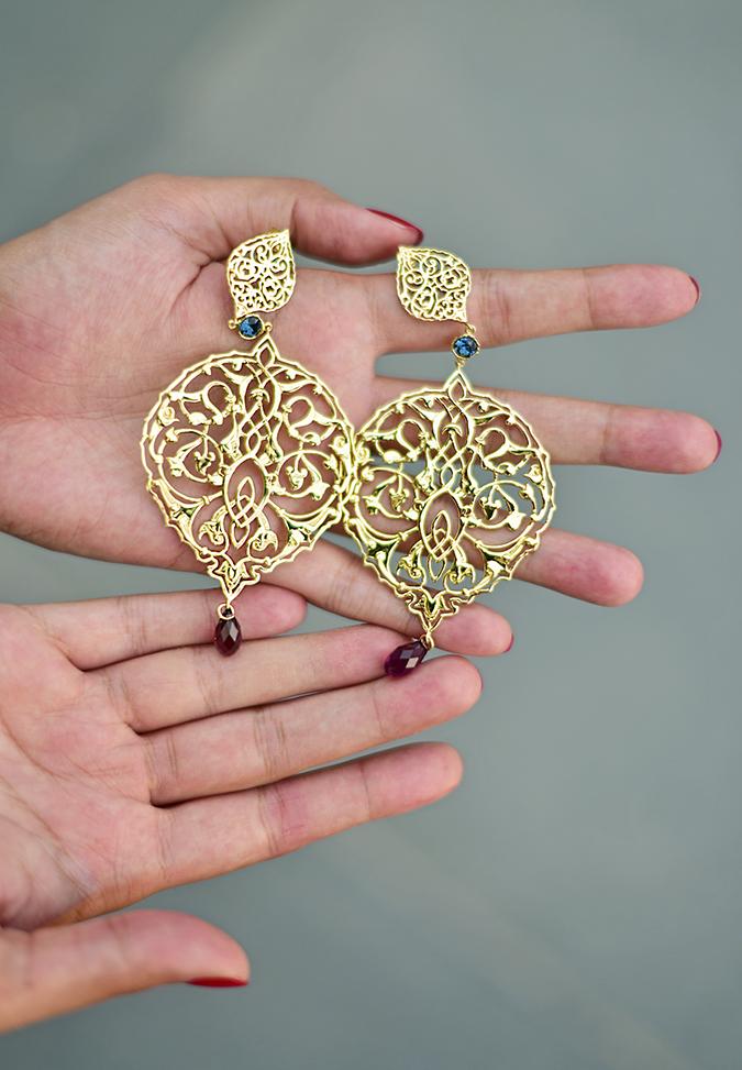 Swarovski Confluence   Akanksha Redhu   earrings flat in hand