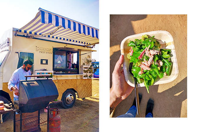 food truck salad combo