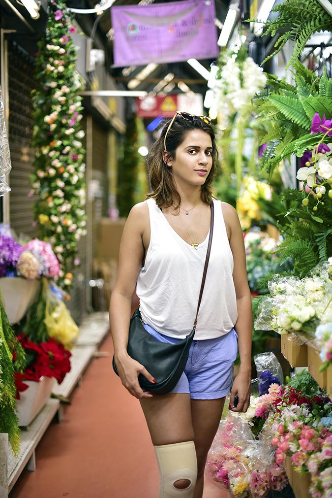 Chatuchak Weekend Market Bangkok | Akanksha Redhu | half front flower section