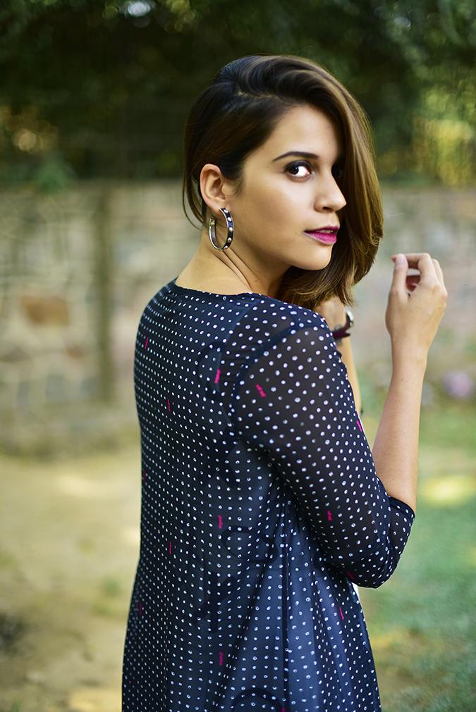 FabAlley x Masaba | Akanksha Redhu | half side back cape