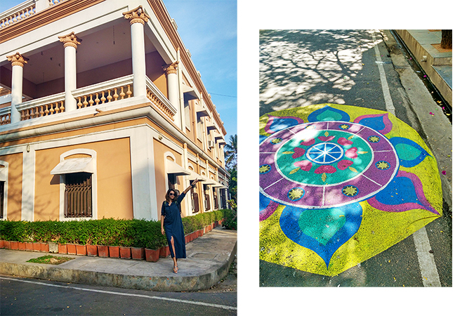 Pondicherry | Akanksha Redhu | full front far and rangoli