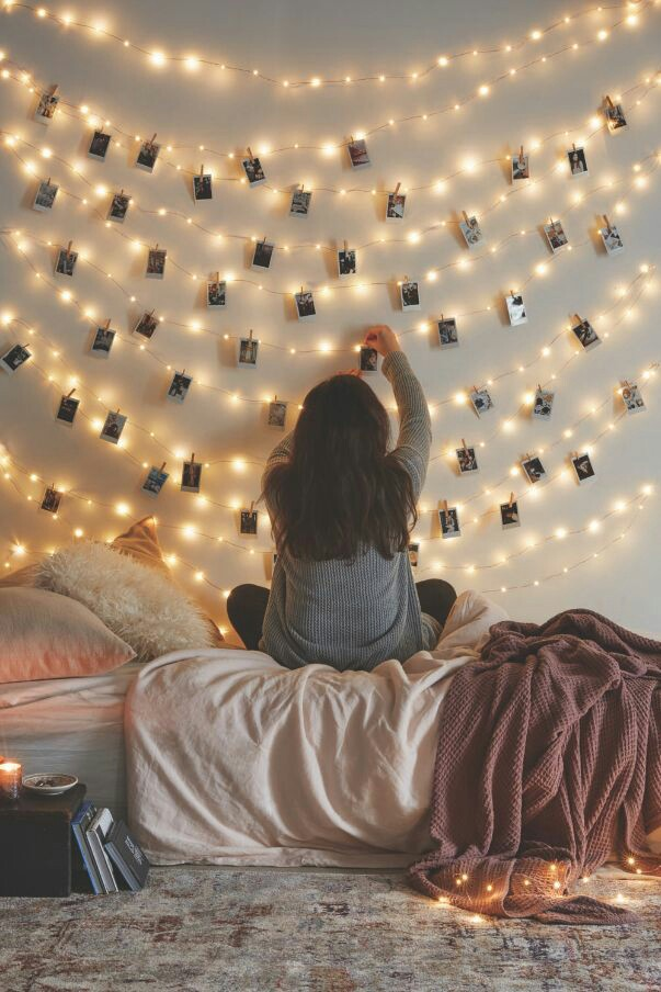 Home Inspo | Akanksha Redhu | fairy lights with pics