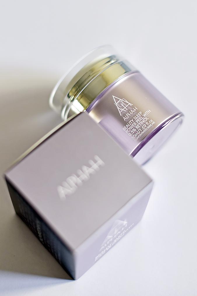 Alpha-H Beauty Sleep Power Peel | Akanksha Redhu | front bottle lying carton long