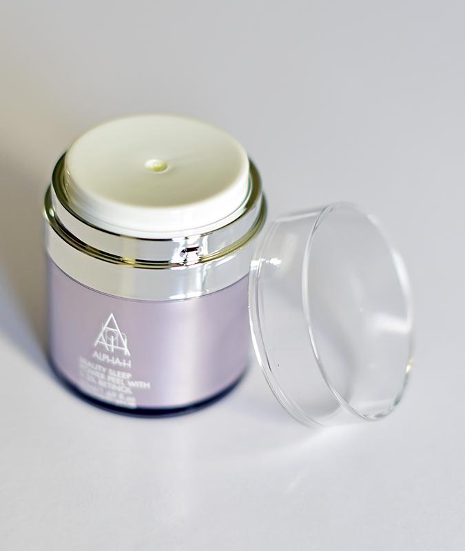 Alpha-H Beauty Sleep Power Peel   Akanksha Redhu   bottle open standing with lid