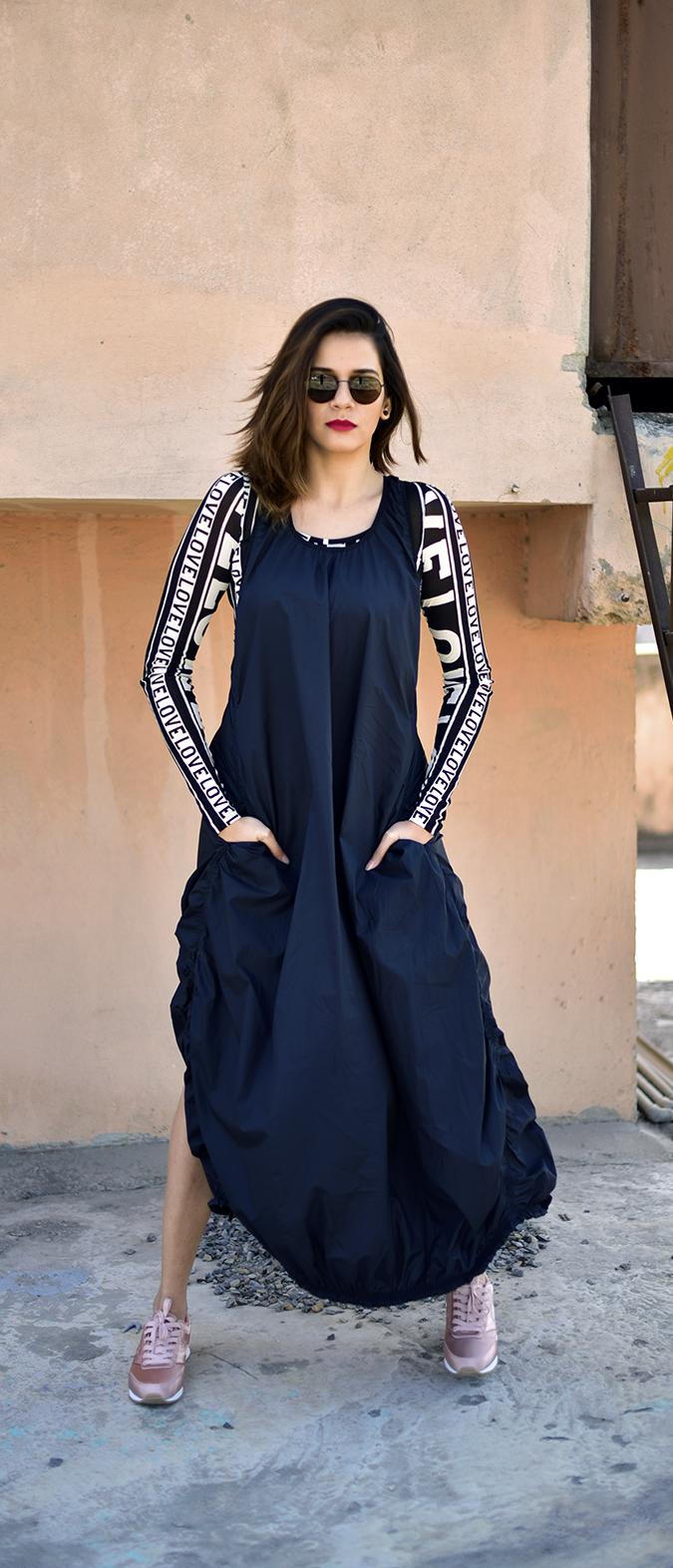 H&M Studio SS17 | Akanksha Redhu | full front legs apart hand in pocket