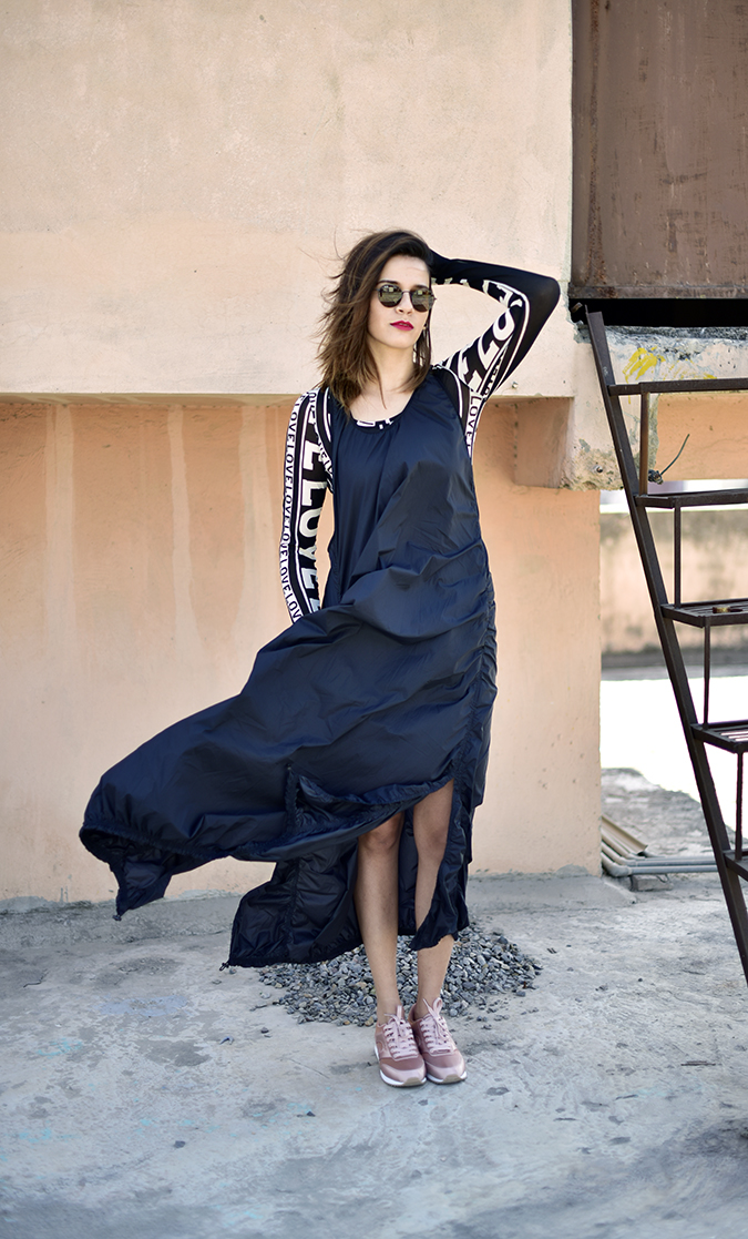 H&M Studio SS17 | Akanksha Redhu | full front arm up dress fly