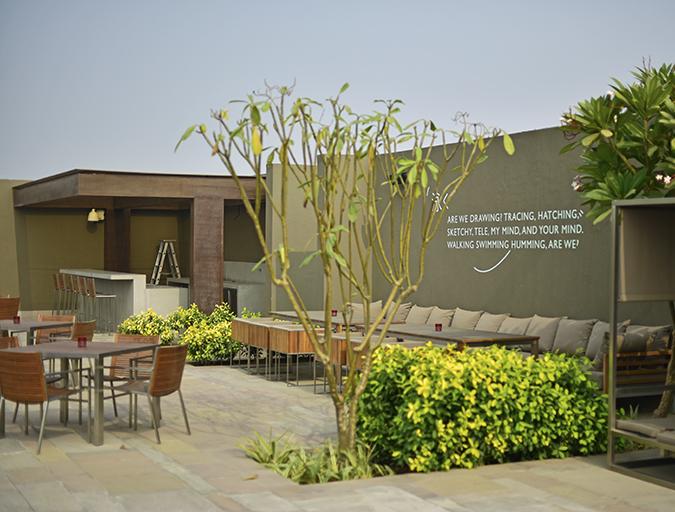 Roseate House | Akanksha Redhu | poolside quote wide