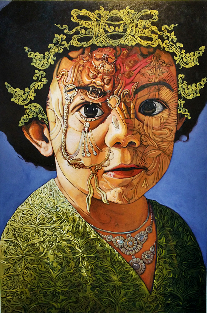 India Art Fair | Akanksha Redhu | oriental face