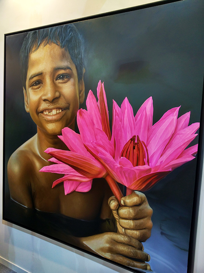 India Art Fair | Akanksha Redhu | boy lotus