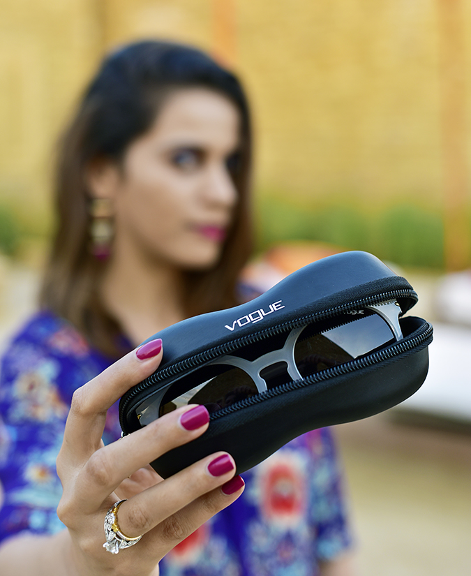 #ShowYourVogue | Akanksha Redhu | holding out sunnies inside case