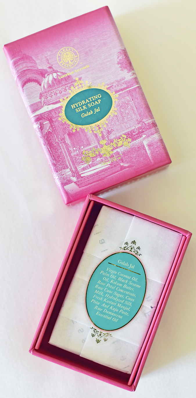 Forest Essentials | Akanksha Redhu | pink open box with list
