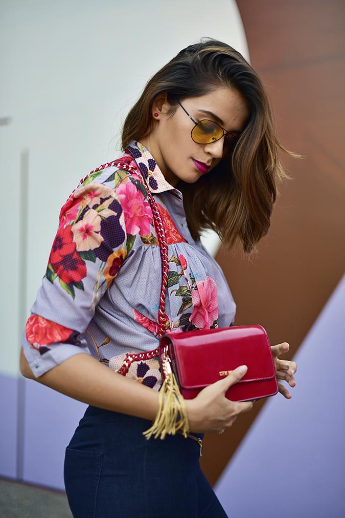 Amazon India Fashion Week | Akanksha Redhu | half side tucked butt bag