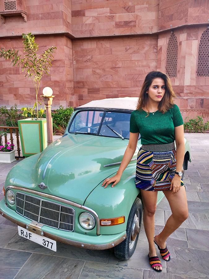 Narendra Bhawan   Akanksha Redhu   full front with car