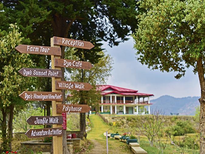 DYO The Organic Village Resort   Akanksha Redhu   direction boards