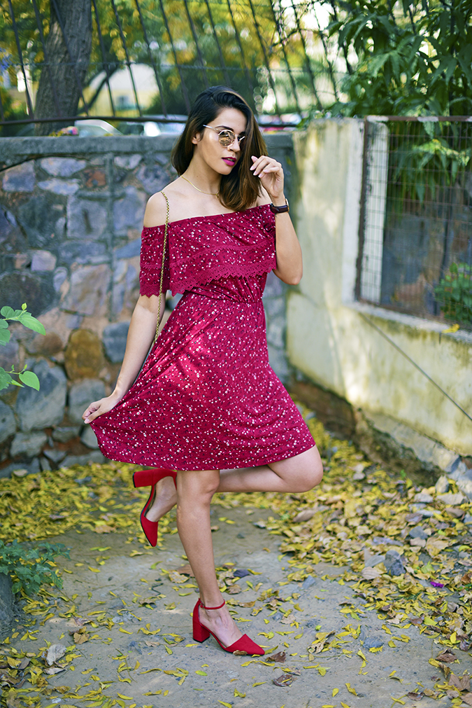 Max Fashion   Akanksha Redhu   full front one leg up spreading dress
