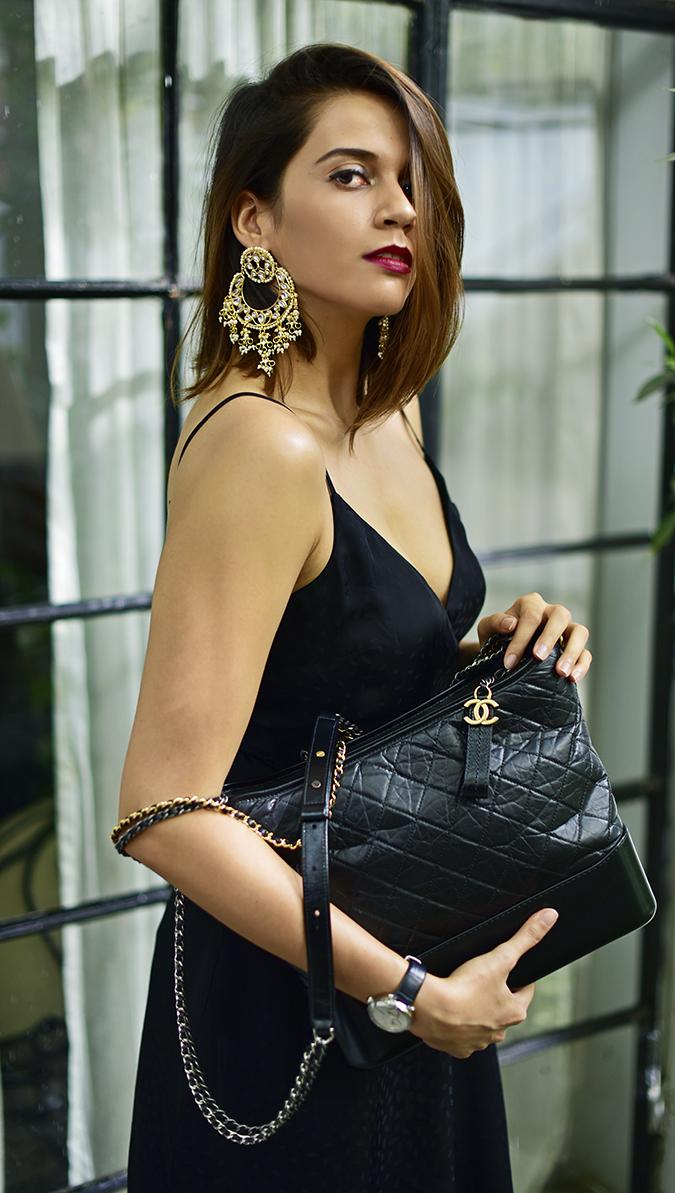 Chanel Gabrielle Bag | Akanksha Redhu half side corner long