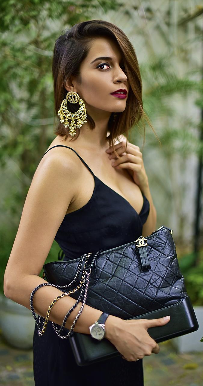 Chanel Gabrielle Bag | Akanksha Redhu half side boobs