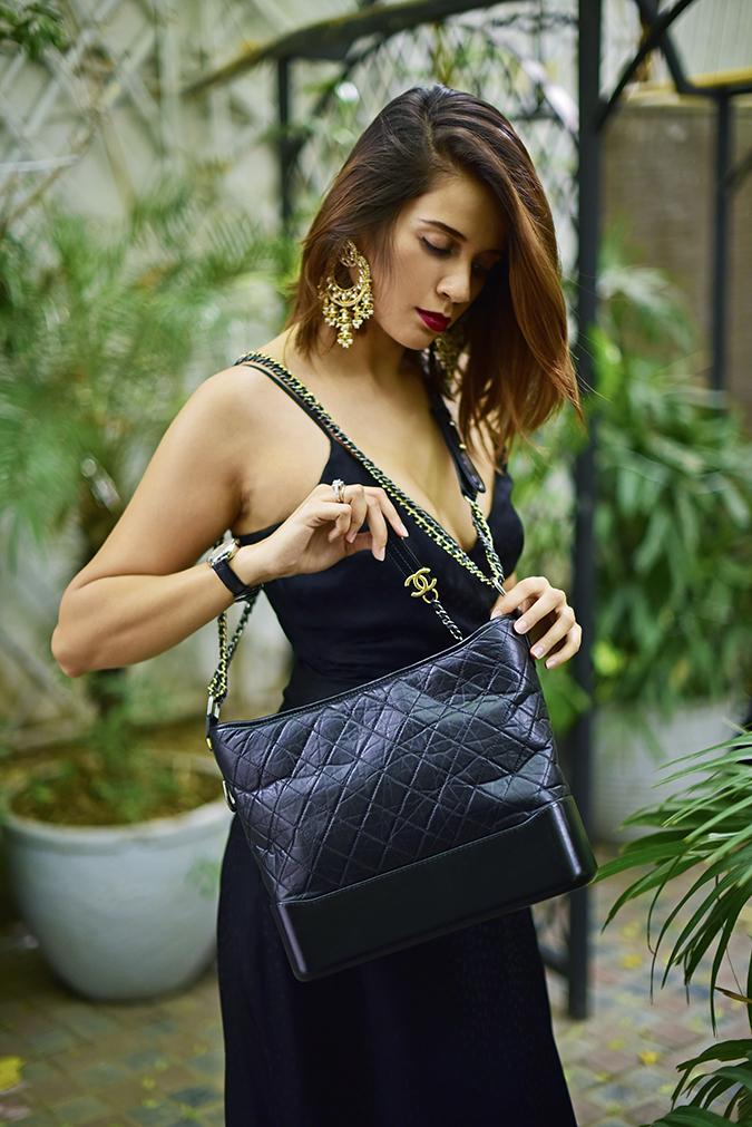 Chanel Gabrielle Bag | Akanksha Redhu half side pulling chain long