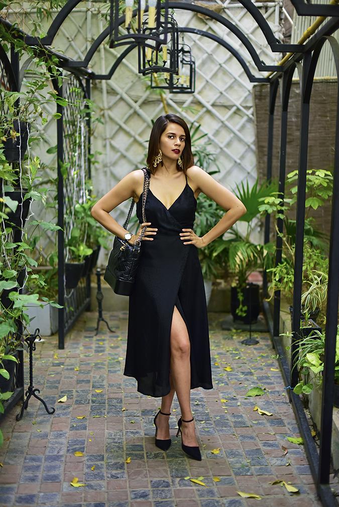 Chanel Gabrielle Bag | Akanksha Redhu full front bare leg crossed hands on waist